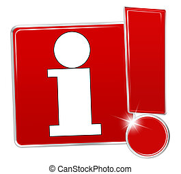 Information Icon red creative exclamation mark design