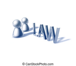 Law word graphic
