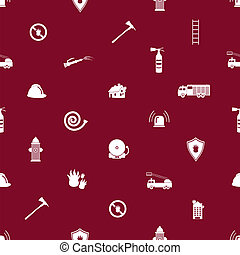 fire brigade red and white seamless pattern eps10