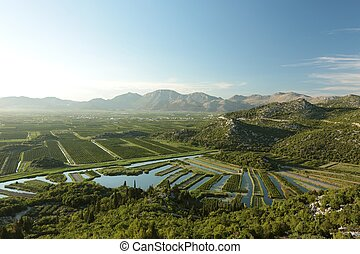 Picturesque valley in Croatia - Picturesque valley on a...
