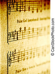 music - old sheet music image