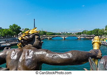 Nymphe de la Neva on Alexander III Bridge, - The Pont...