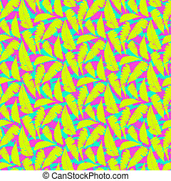 Grunge summer pattern with fern leafs - Vector seamless...