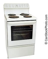 blanco, cocina, estufa