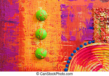 Colorfull abstract artwork, artwork is created and painted...