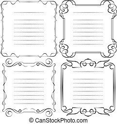 set of vector frames menu
