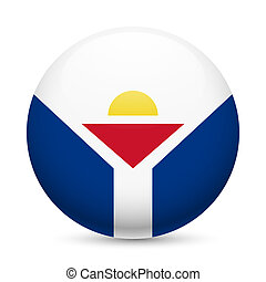Round glossy icon of Saint Martin - Flag of Saint Martin as...