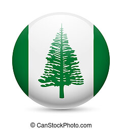 Round glossy icon of Norfolk Island - Flag of Norfolk Island...