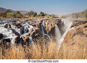 Epupa waterfalls long exposure - Long exposure of Epupa...