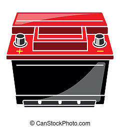 Car Battery Vector Illustration No mash no gradient