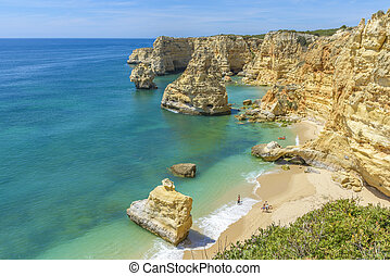 Praia da Marinha near Lagoa, in Algarve, Portugal - General...