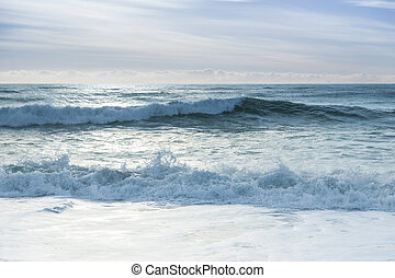 Breaking ocean waves - Beautiful surf in the early morning...
