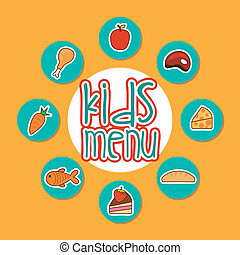 food design over orange background vector illustration