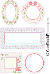 Shabby Chic Frames - Illustration Featuring Flowery Frames...