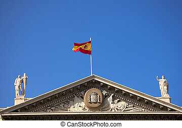 Military Government - Barcelona Spain - Detail of the top...