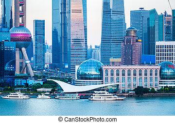modern city closeup in shanghai