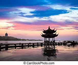 hangzhou scenery in sunset - the natural beauty of hangzhou...