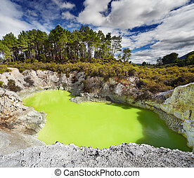 Devil's Bath pool, Waiotapu, New Zealand - Devil's Bath pool...