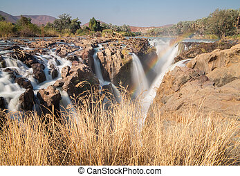 Epupa waterfalls long exposure - Long exposure of Epupa...