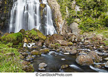 Marokopa Falls, New Zealand - Marokopa Falls, North Island,...