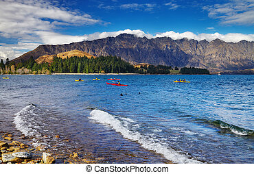 Wakatipu Lake, New Zealand - Wakatipu Lake and Ramarkables...