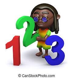 3D, rastafarian, onderwijst, Wiskunde