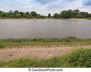 Elbe river - View of the Elbe river in Dessau near Berlin...