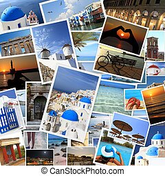 Collection of Greek islands photos