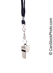 Metal sport whistle - Metal sport coaches whistle with...
