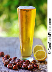 hazelnuts and Ice cold beer