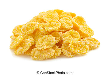 corn flakes on white - corn flakes isolated on white...