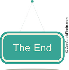 The end - Flat design style modern vector illustration...