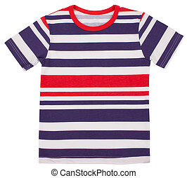 Child t-shirt isolated on a white background. Clipping paths...
