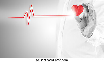 Cardiology cocnept - Healthy heart and cardiology concept...