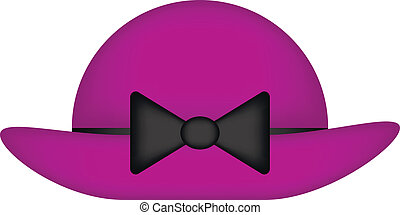 Woman hat on white background. Vector illustration.