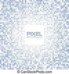Abstract blue gray light pixel background, vector...