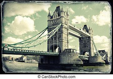 Vintage photo of Tower bridge in London