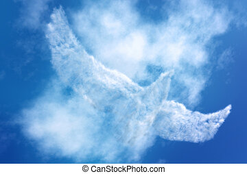 The eagle. - Eagle cloud, or a white cloud in an eagle...