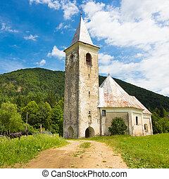 Church in Srednja vas near Semic, Slovenia. - Medieval...