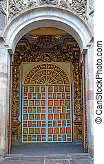 Door of an old colonial church