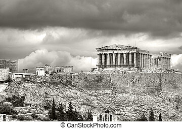 Acropolis - The Parthenon seen from Filapopos Hill.