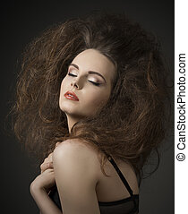 sexy woman with creative hair-style - fashion sexy lady in...