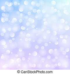 blue background with white bokeh - Winter blue background...