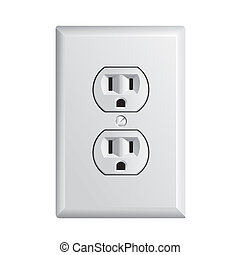 American socket - electrical outlet in the USA, power socket