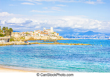 The city of Antibes, south of France