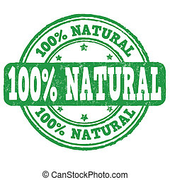 100 percent natural stamp - 100 percent natural grunge...