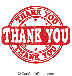 Thank you stamp - Thank you grunge rubber stamp on white,...