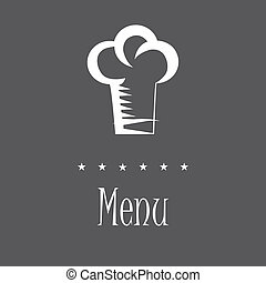 menu - a chef hat with some stars and text for menu design