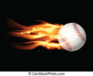 Flaming Baseball Illustration - An illustration of a flaming...