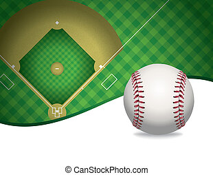 Baseball and Baseball Field Background Illustration - An...
